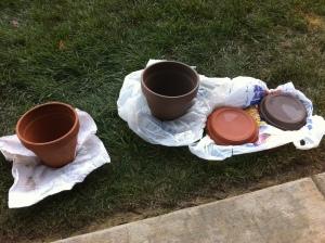 herb garden, diy, chalkboard paint